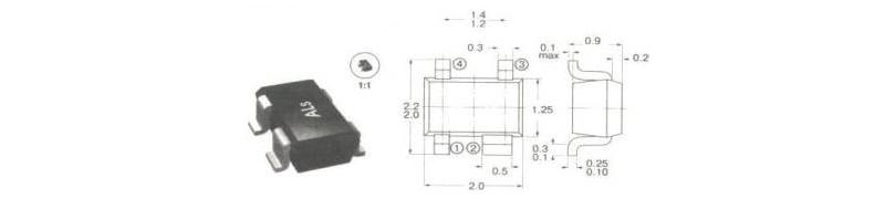 корпуса и маркировка компонентов  для поверхностного монтажа smd14