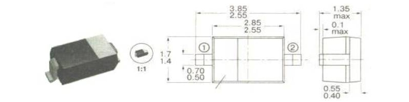 корпуса и маркировка компонентов  для поверхностного монтажа